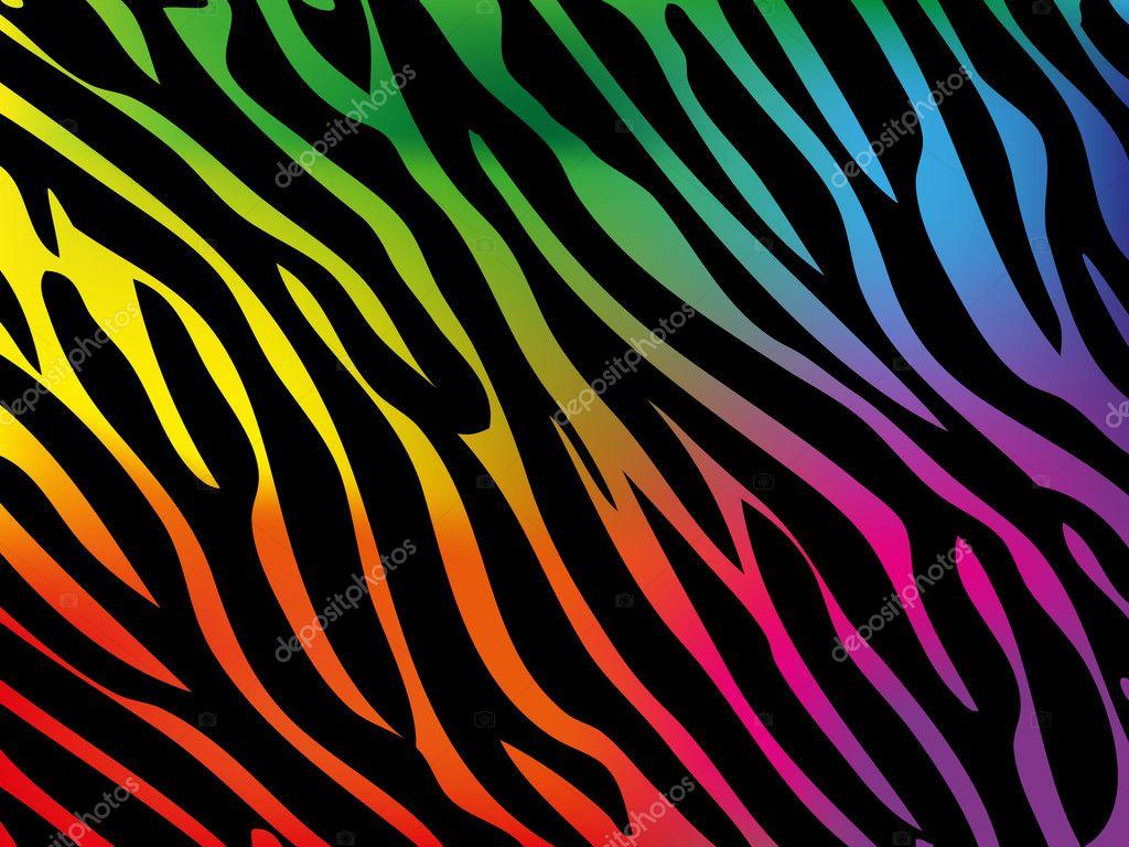 Background Rainbow Zebra Rainbow Zebra Background Stock