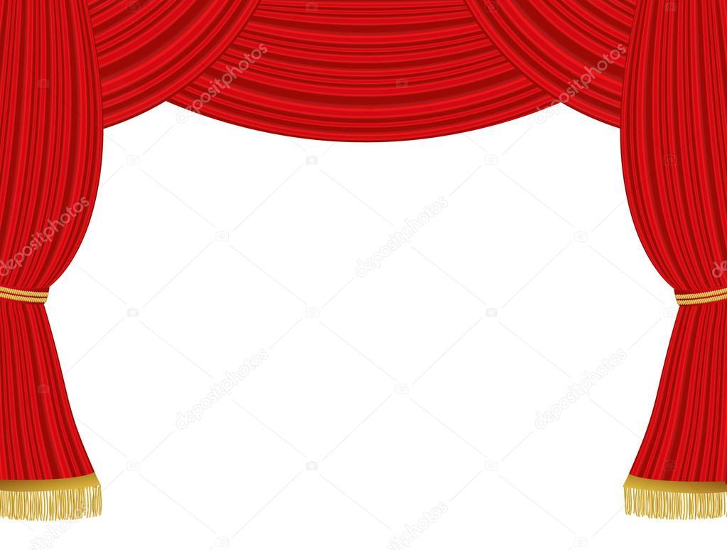 Theater gordijnen achtergrond — Stockvector © PiXXart #29126749