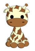 Fotografia cartone animato carino giraffa
