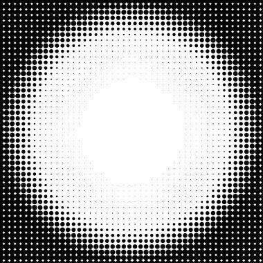 Halftone circle background