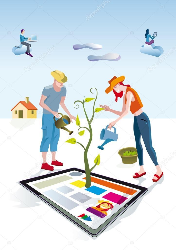 Digital Tablet Gardeners