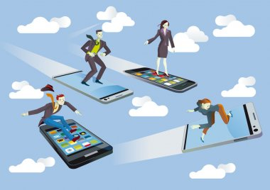 Business with Flying smartphones