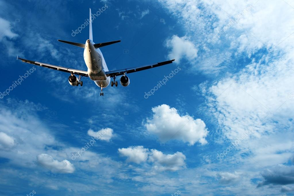 Aircraft on blue sky