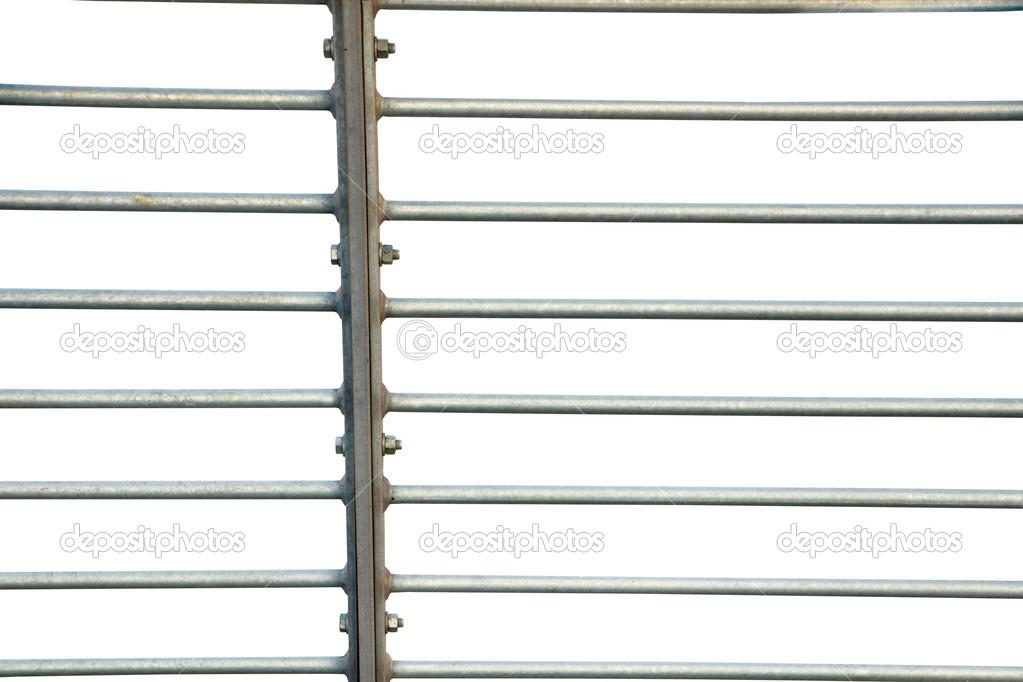 Metall Zaun Auf Weiss Stockfoto C Pinkbadger 22933102