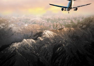 Aircraft in mountain landscape