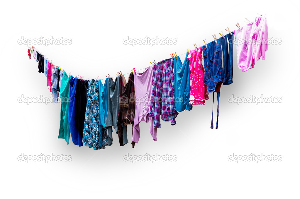 Kleidung Zum Trocknen Aufhängen Stockfoto Pinkbadger 39662481