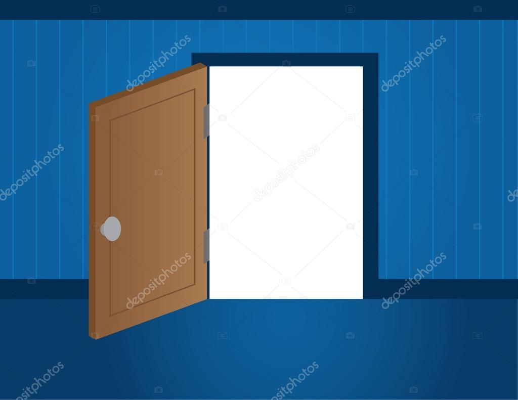 abertura de la puerta — Vector de stock © milo827 #12174705