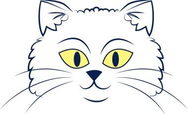 Cat Face Outline