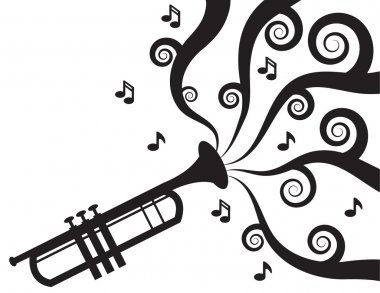 Trumpet Playing Music Silhouette