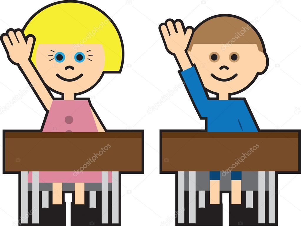 levantar la mano para hablar