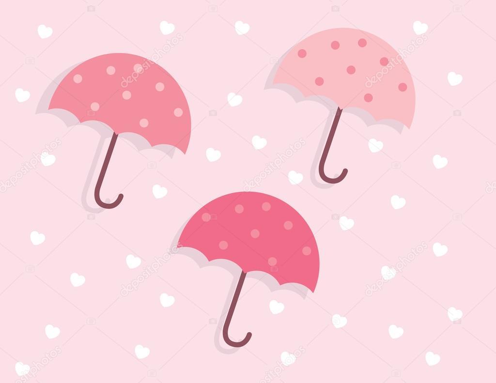 Umbrellas Pink