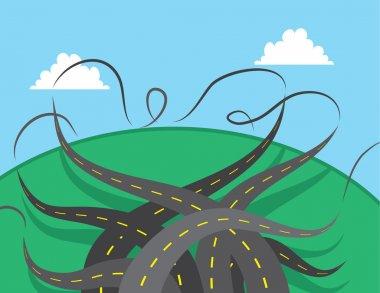 Roads Twisting