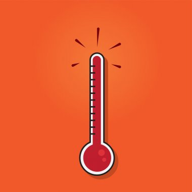 Thermometer filled to the top clip art vector