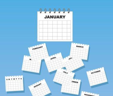 Calendar Months Falling