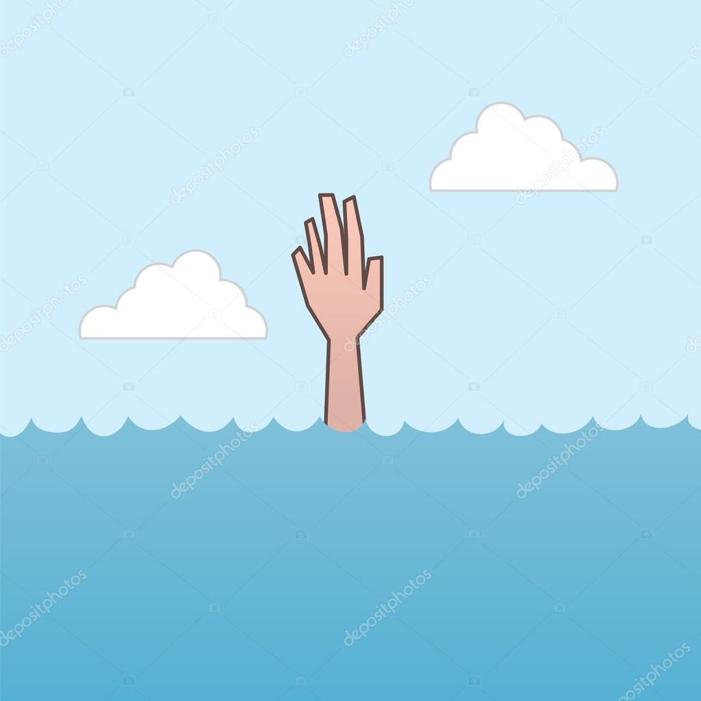 Drowning Hand Reaching