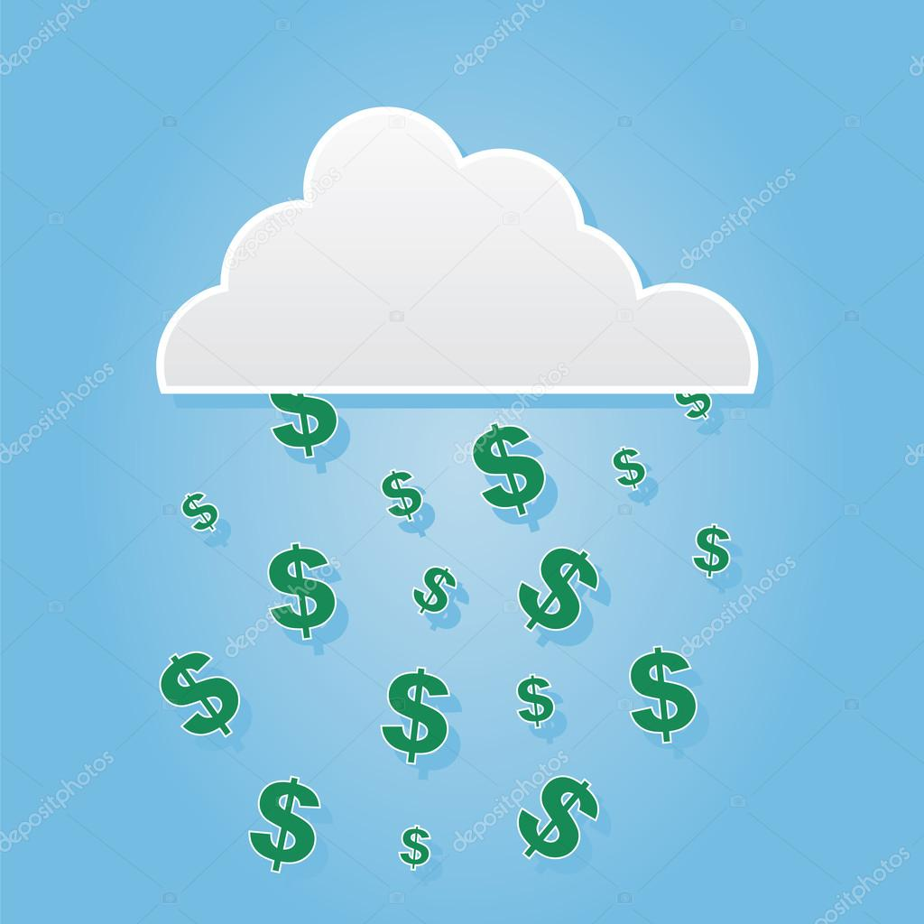 Cloud Dollar Signs