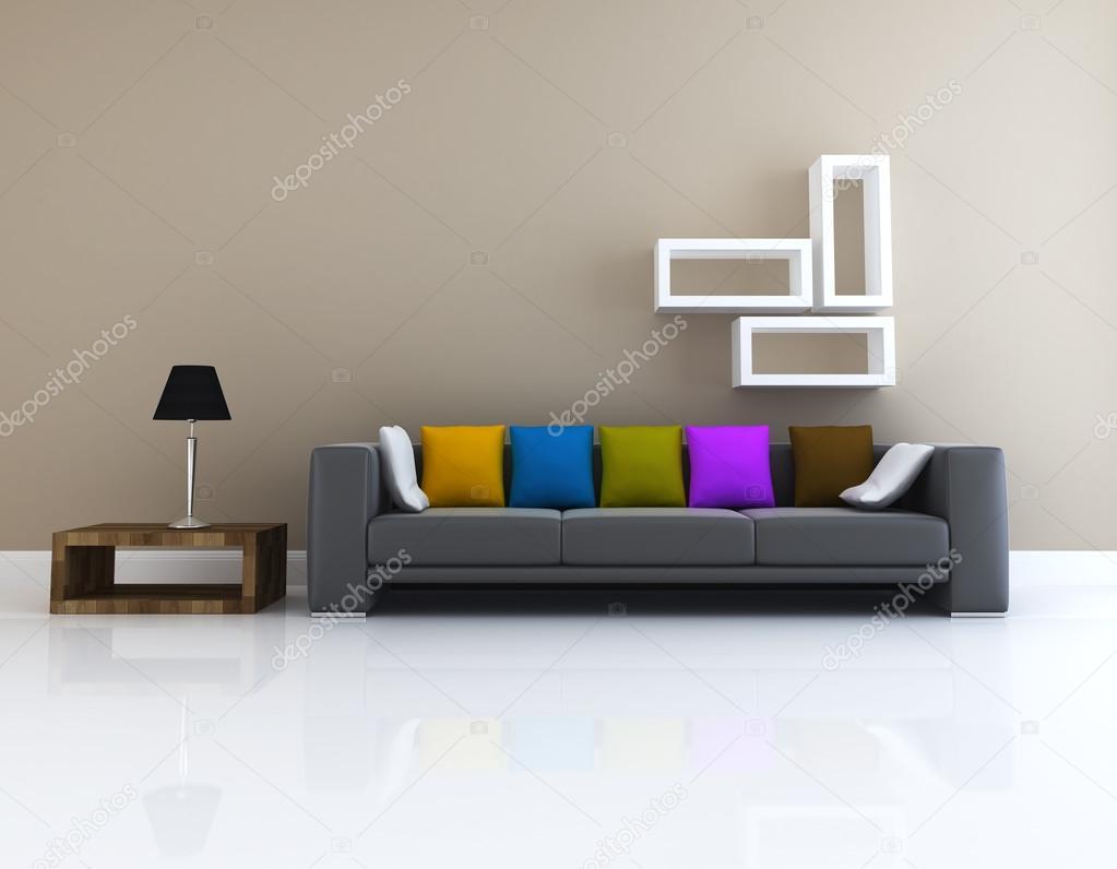 woonkamer ontwerp 3D-rendering — Stockfoto © sayhmog #36303657