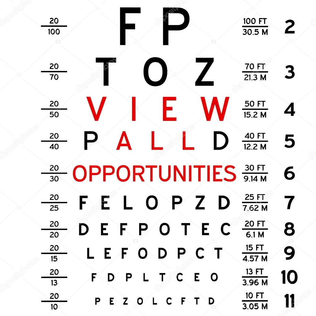 Eye chart — Stock Photo © venci #27578385