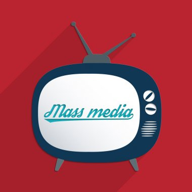 Concept for information society, globalization, propaganda and media manipulation. Flat design illustration. stock vector