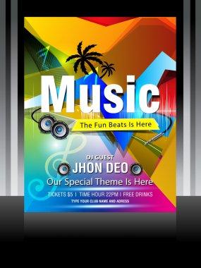 Vector music flyer design