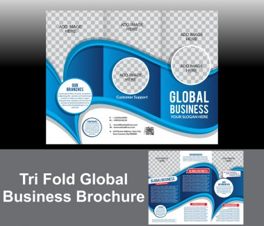 Tri Fold Blue Wave Brochure
