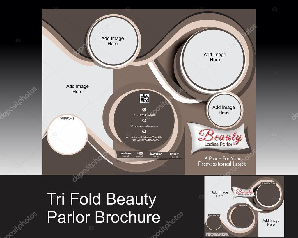 Tri-Fold-Salon-Broschüre — Stockfoto © gurukripa #41559399