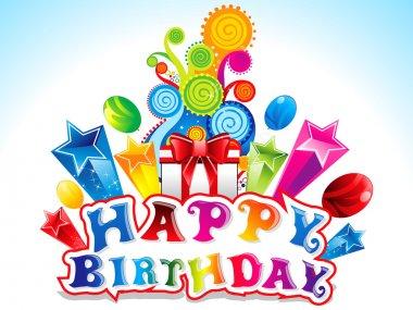 Colorful Happy Birthday Card Vector illustration clip art vector