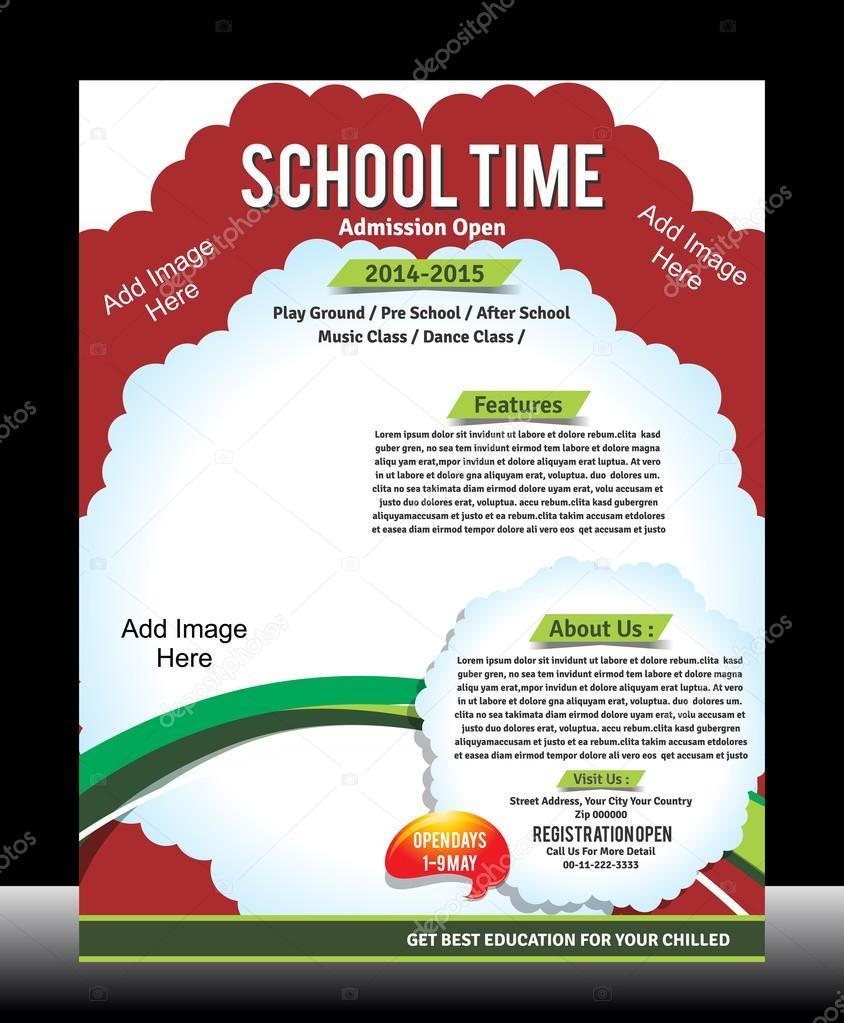 School Promotion Flyer Template — Stock Vector © gurukripa #42762223