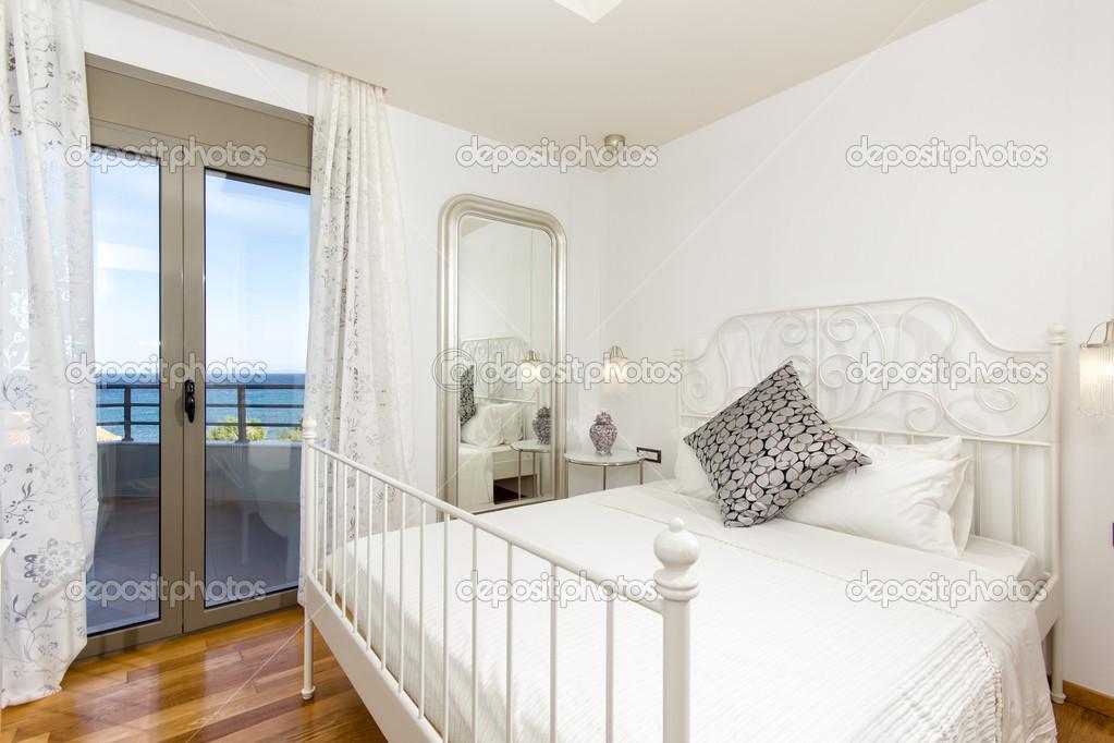 Luxus Schlafzimmer Mit Schönem Meerblick U2014 Stockfoto