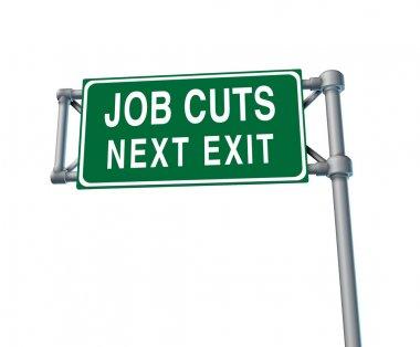 Job Cuts Highway Sign