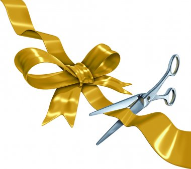 Gold Ribbon Cutting
