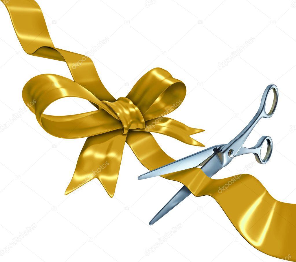 gold ribbon cutting stock photo lightsource 22537559