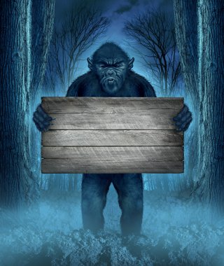 Monster Holding A Sign