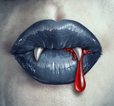 Horror Vampire Bloody Teeth