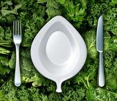 Eszik zöld zöldségek