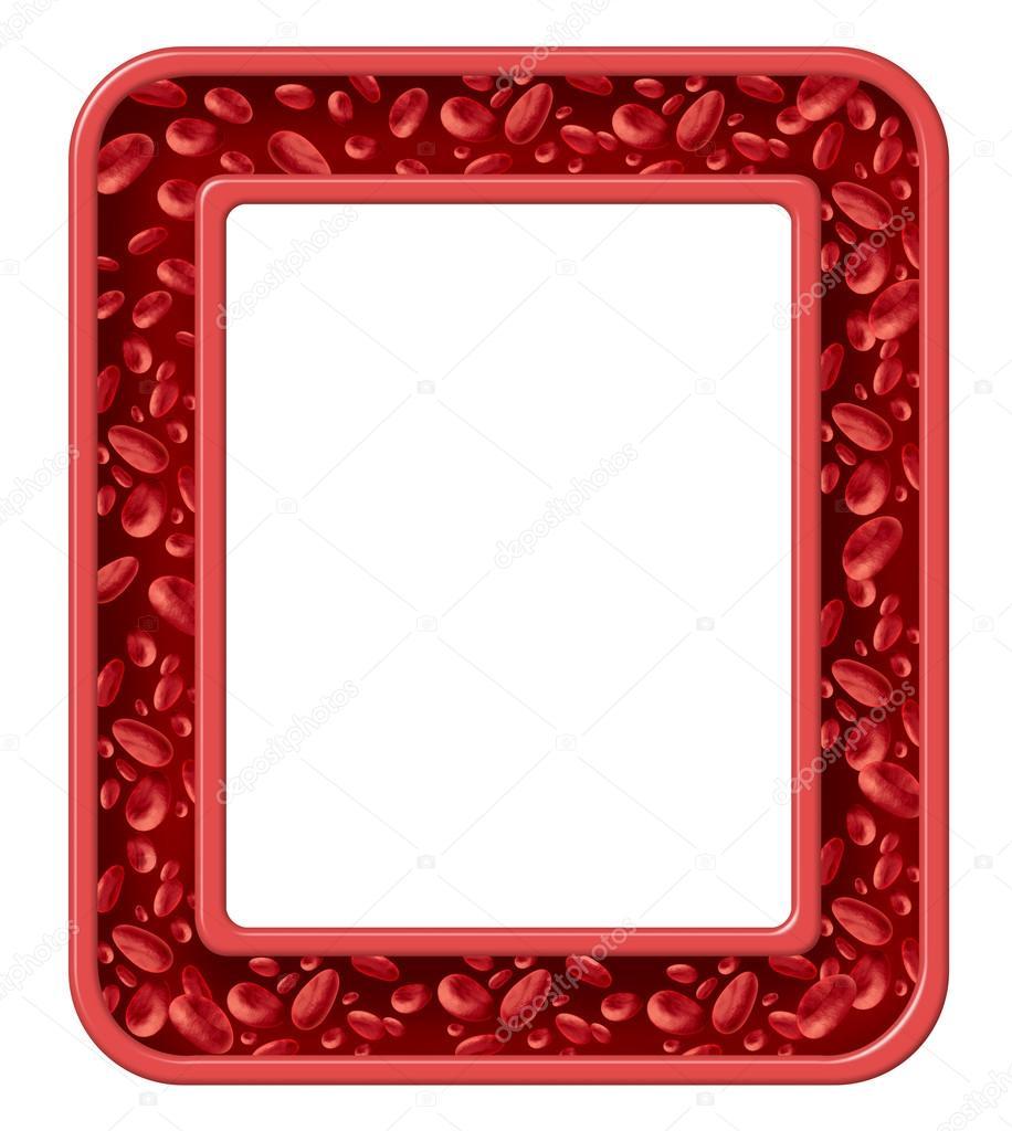 marco de sangre humana — Foto de stock © lightsource #49226395
