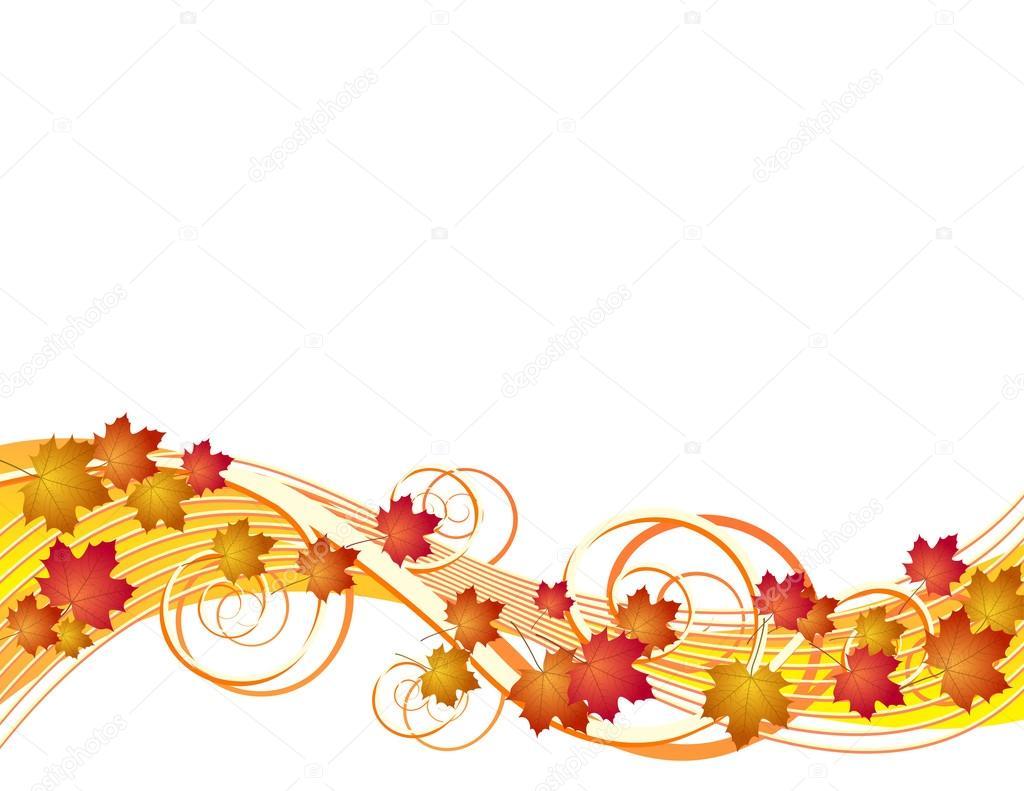 Vuelo oto o hojas de fondo archivo im genes vectoriales - Descargar autumn leaves ...