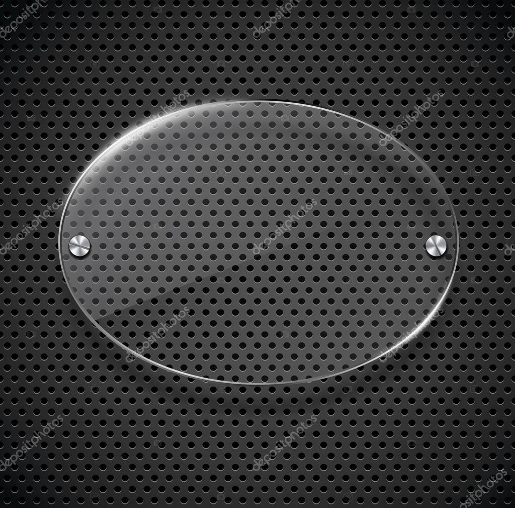 Metall Textur mit Glas-Rahmen — Stockvektor © tassel #24524977