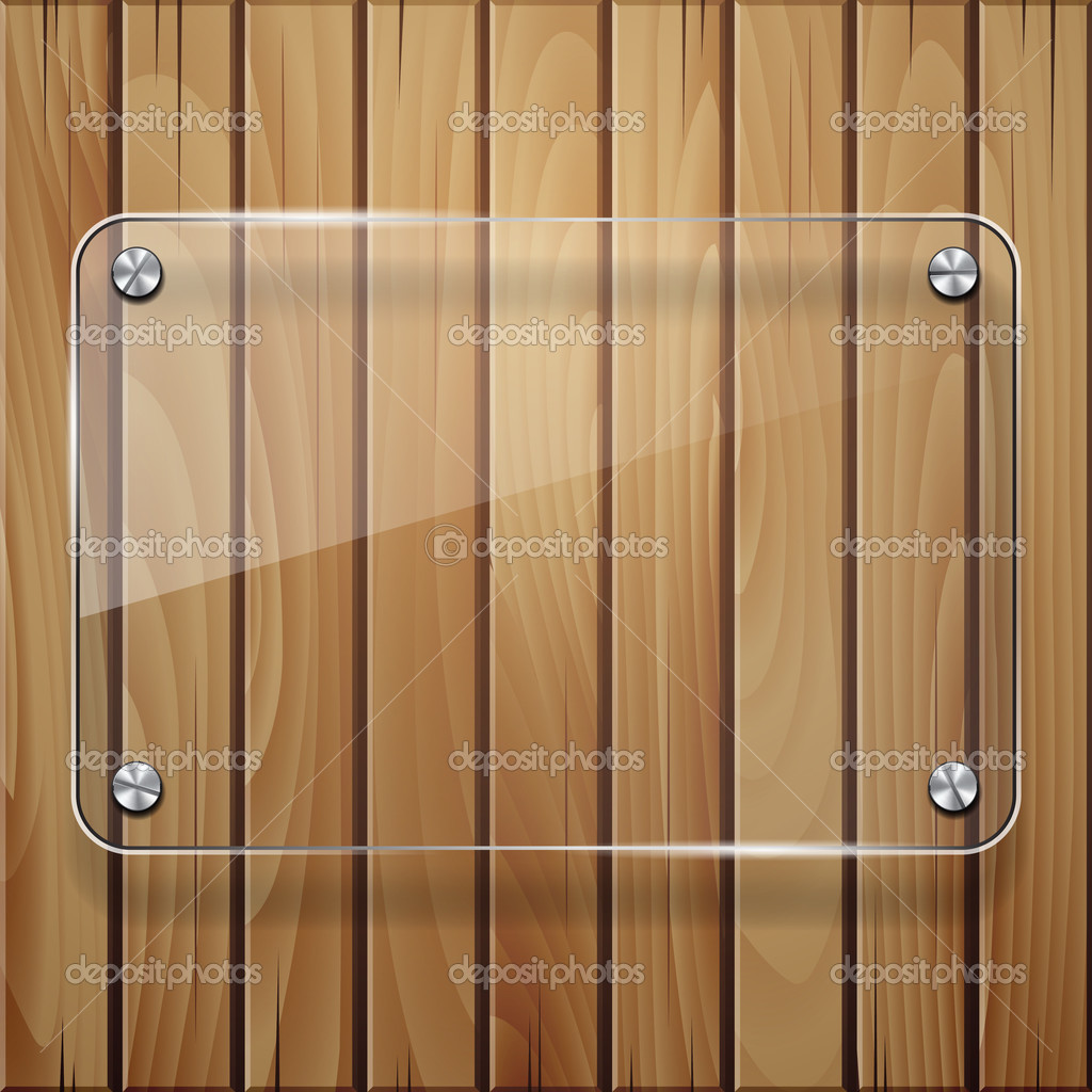 textura de madera con marco de cristal — Vector de stock © tassel ...