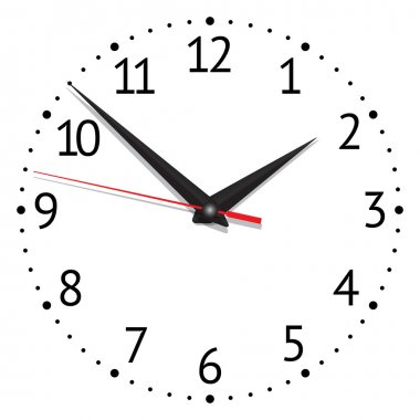 Clock. vector illustration stock vector