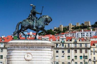 Figueira Square and Dom Joao I statue, Lisbon