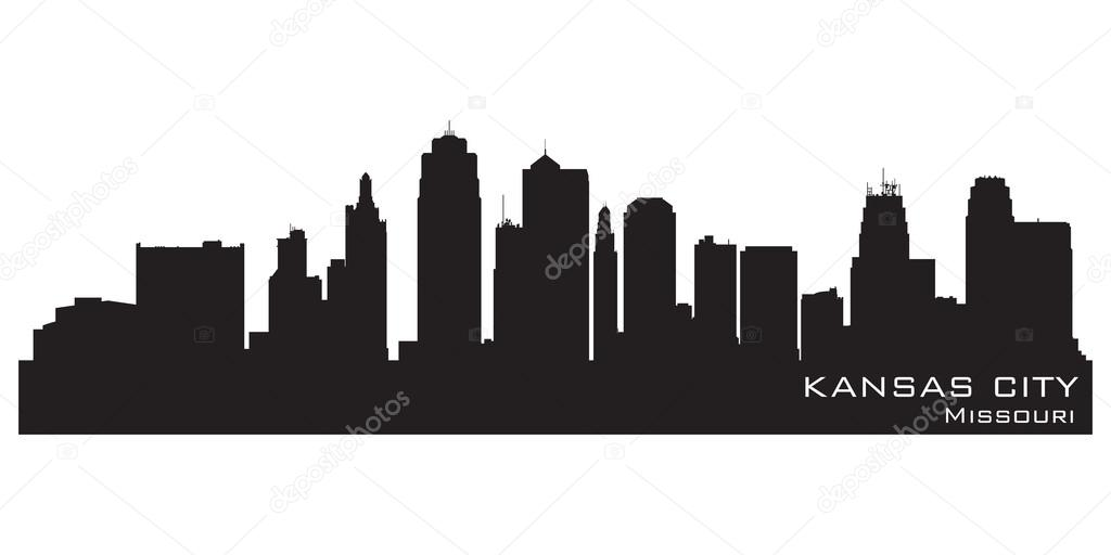 Kansas City Missouri Skyline Detailed Vector Silhouette