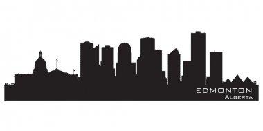 Edmonton, Canada skyline. Detailed silhouette