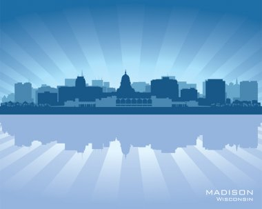 Madison, Wisconsin skyline city silhouette