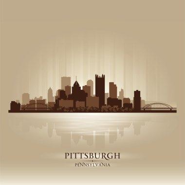 Pittsburgh Pennsylvania skyline city silhouette