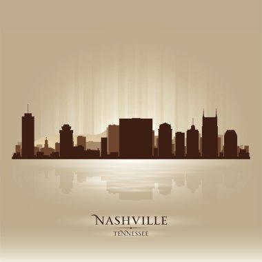 Nashville Tennessee skyline city silhouette