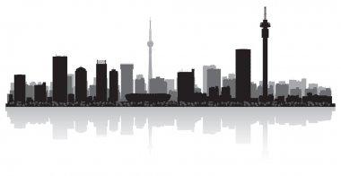 Johannesburg city skyline vector silhouette