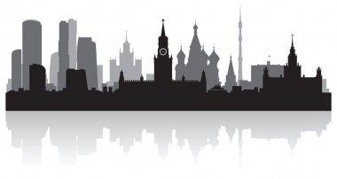 Moscow city skyline vector silhouette