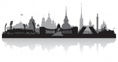 Saint Petersburg city skyline vector silhouette