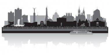 Samara city skyline vector silhouette
